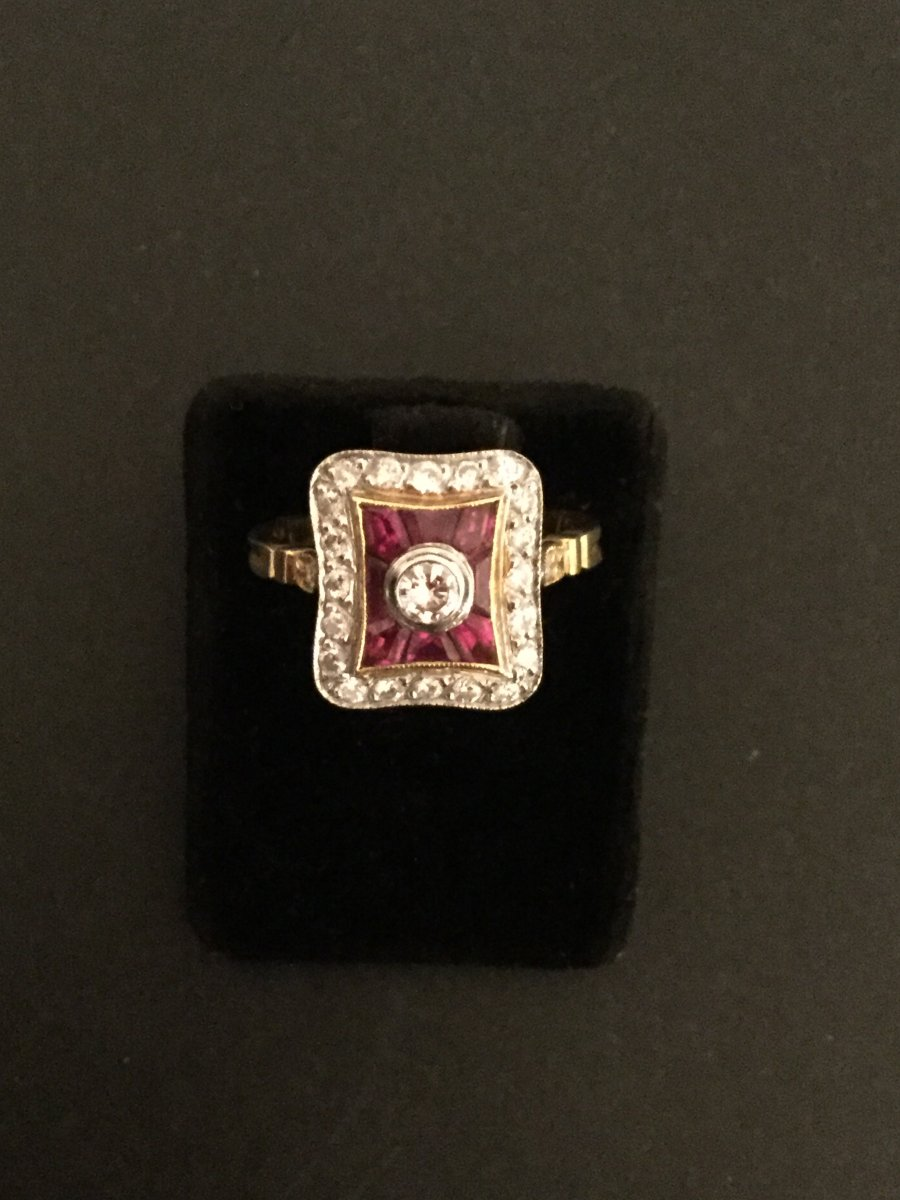 Ring Diamonds And Rubies Calibrated