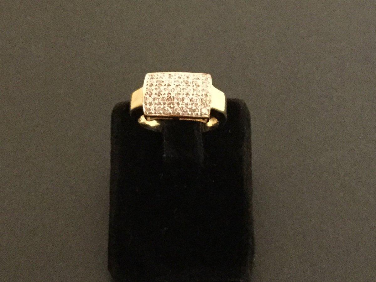 Bague Vintage Or 18 Kts Et Diamants