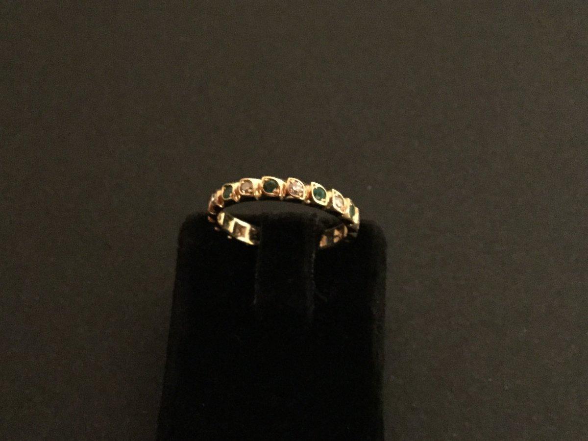 American Diamond Alliance, Yellow Gold Emeralds-photo-1