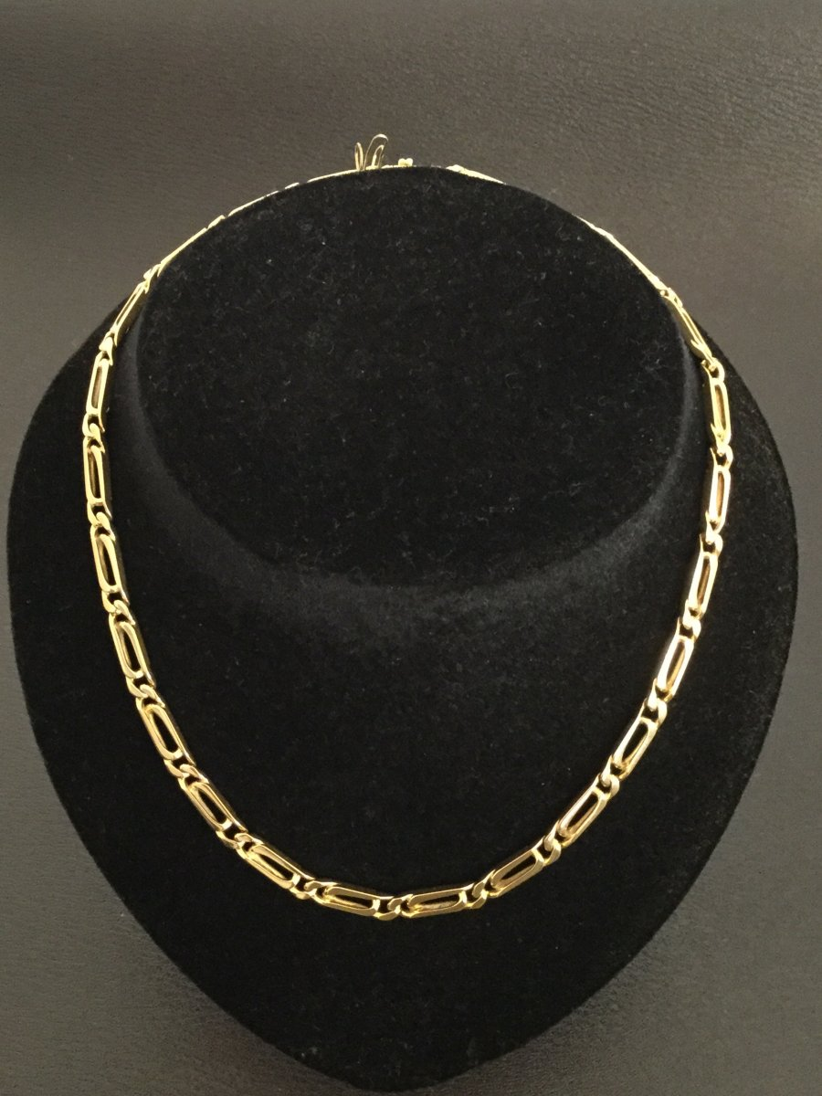 Solid Yellow Gold Choker Necklace