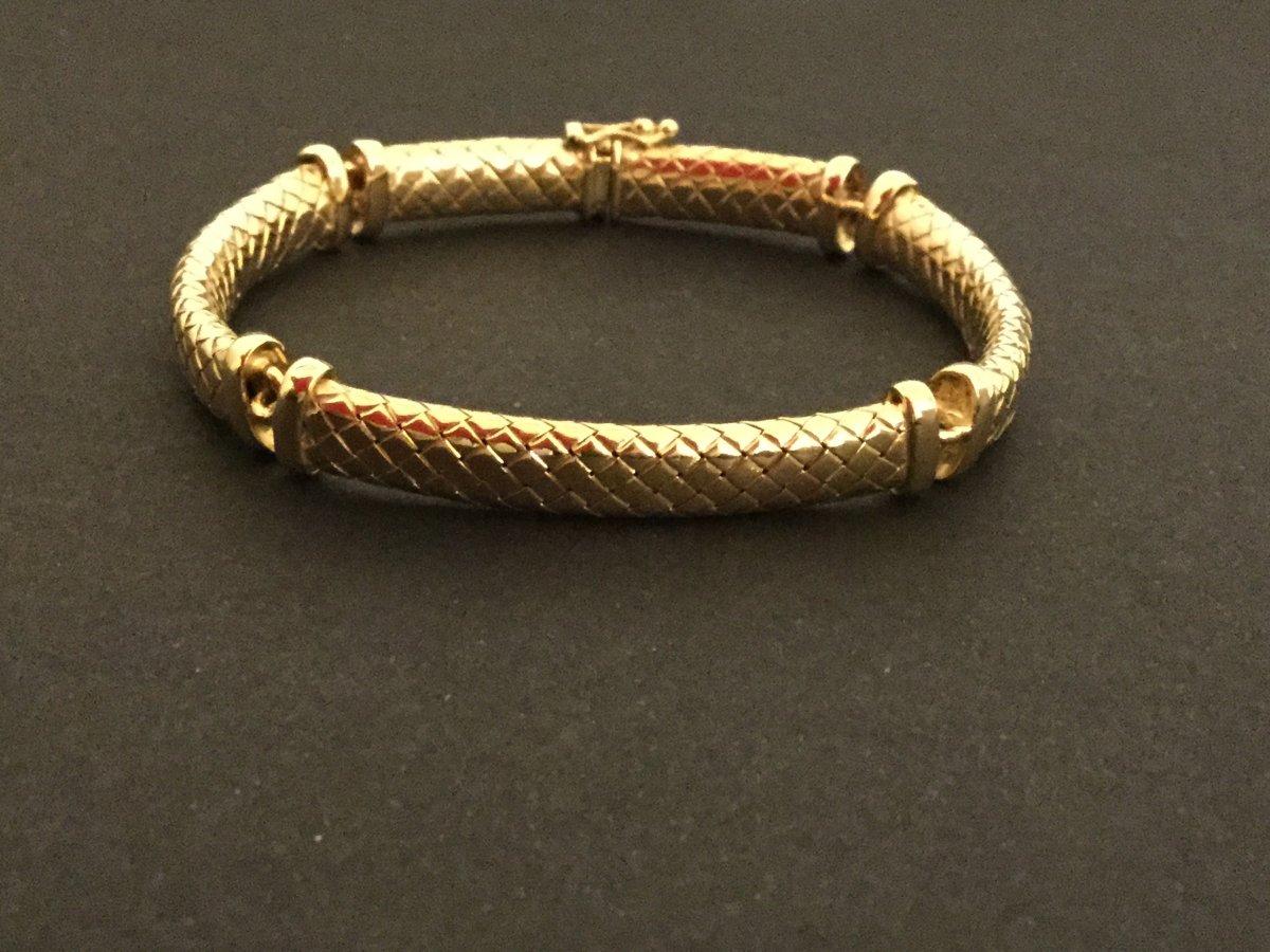 18k Yellow Gold Scale Bracelet