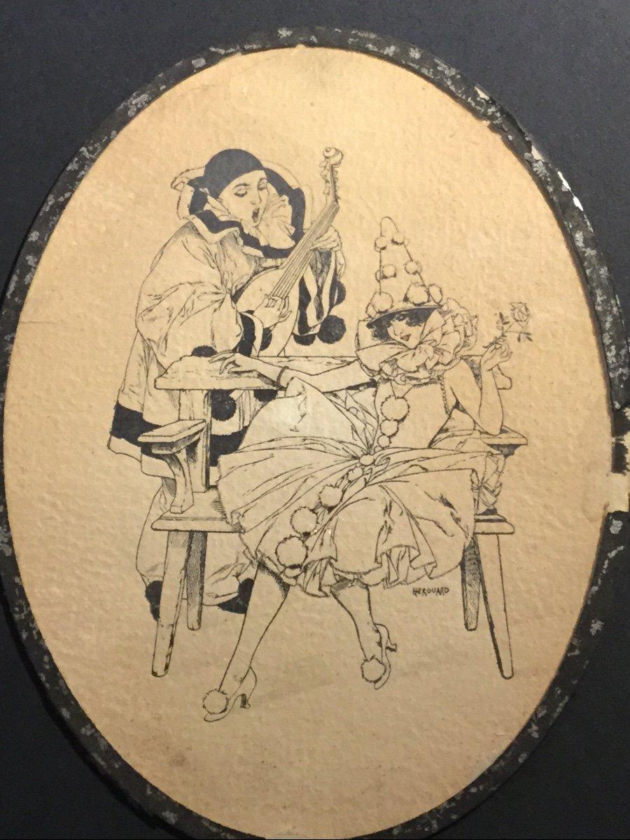 Pierrot et Colombine de Chéri HEBROUARD