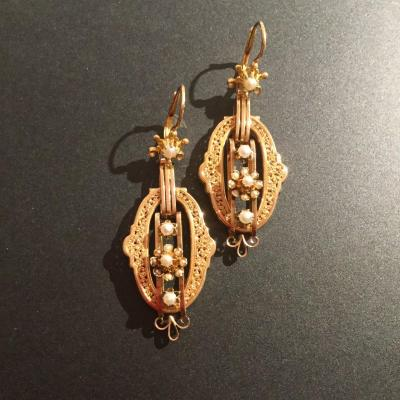 Napoléon Lll Earrings In Yellow Gold