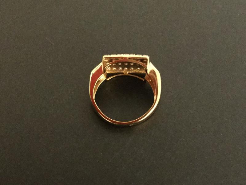 Vintage Ring 18 Kts Gold And Diamonds-photo-3