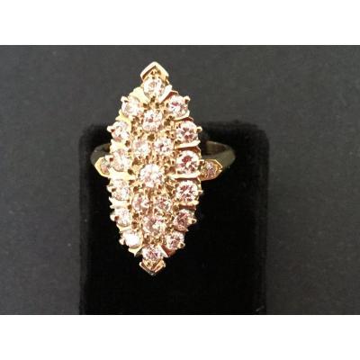 Bague Pompadour Diamants En Or Jaune
