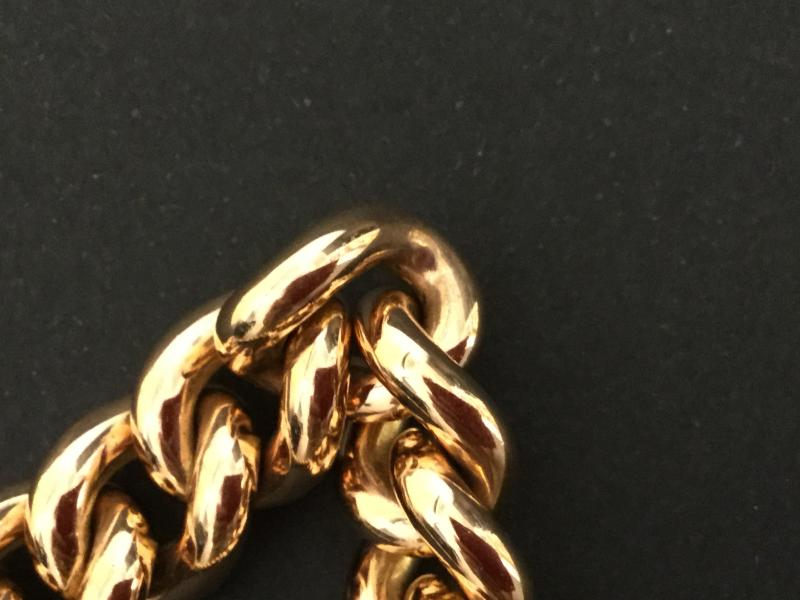 Massive Curb In Yellow Gold-photo-2