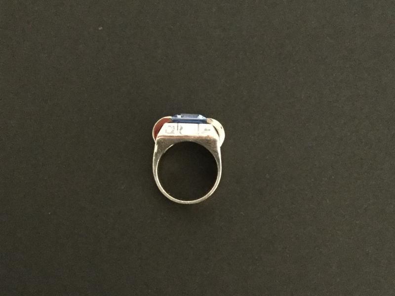 Tank Ring In Silver-photo-2
