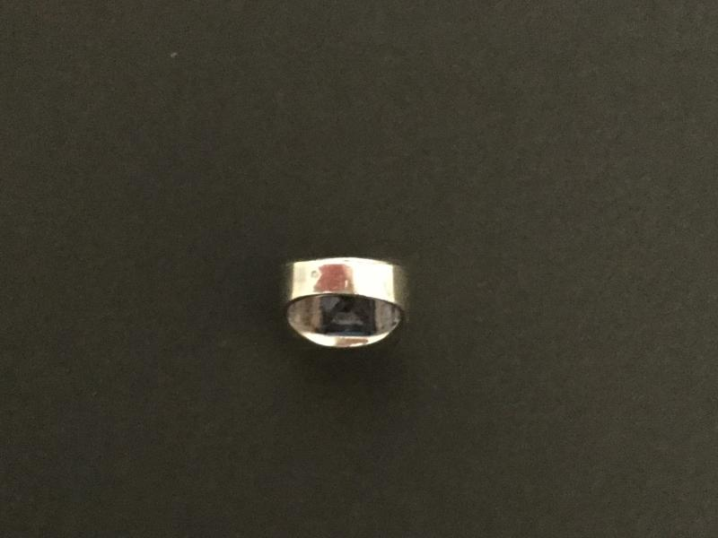 Tank Ring In Silver-photo-3