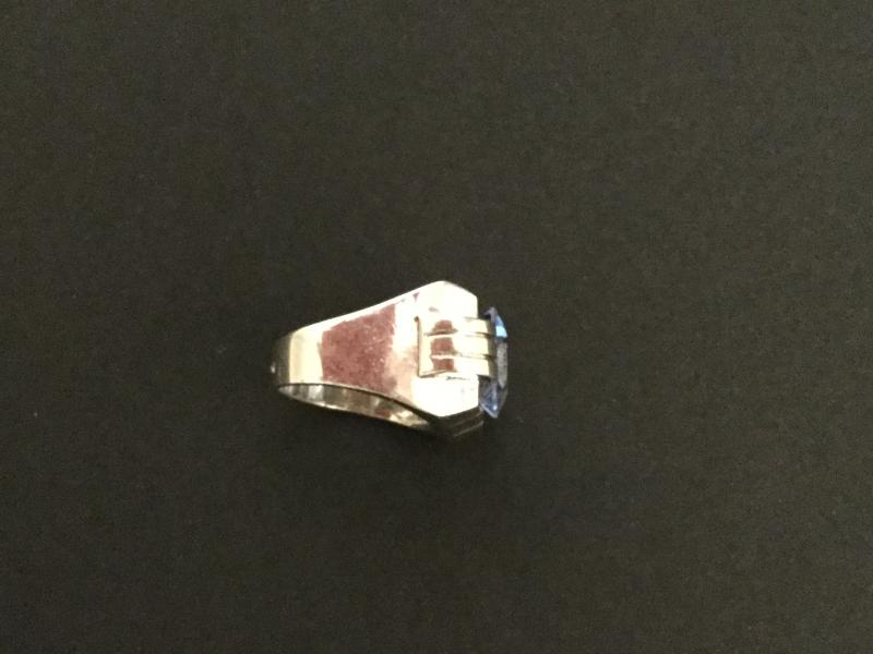 Tank Ring In Silver-photo-4