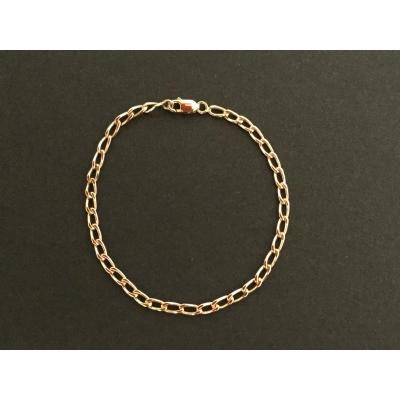 Curb Chain Bracelet In Yellow Gold