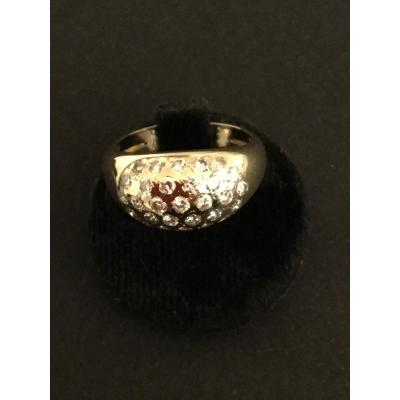 Ball Ring With Diamonds In Yellow Gold