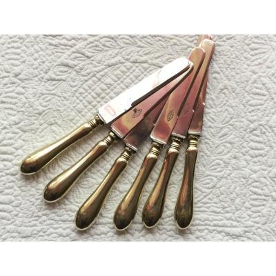 Couteaux  de table  Grand Modèle En Métal Argenté