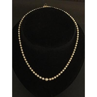 Fine Pearl Necklace Yellow Gold Clasp
