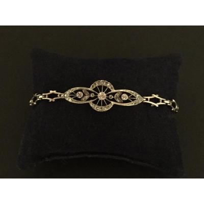 Bracelet Napoléon  lll  Or , Argent Et Diamants
