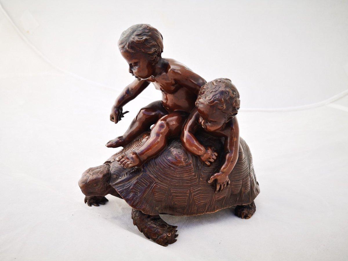 Barrias- Tortue En Bronze-photo-2