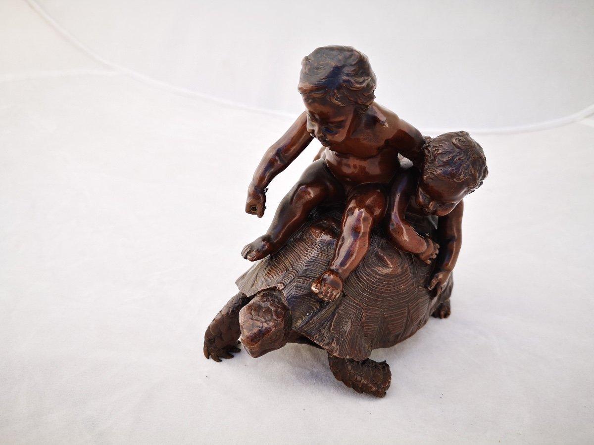 Barrias- Tortue En Bronze-photo-3