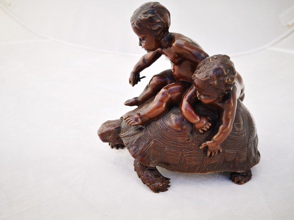 Barrias- Tortue En Bronze-photo-4