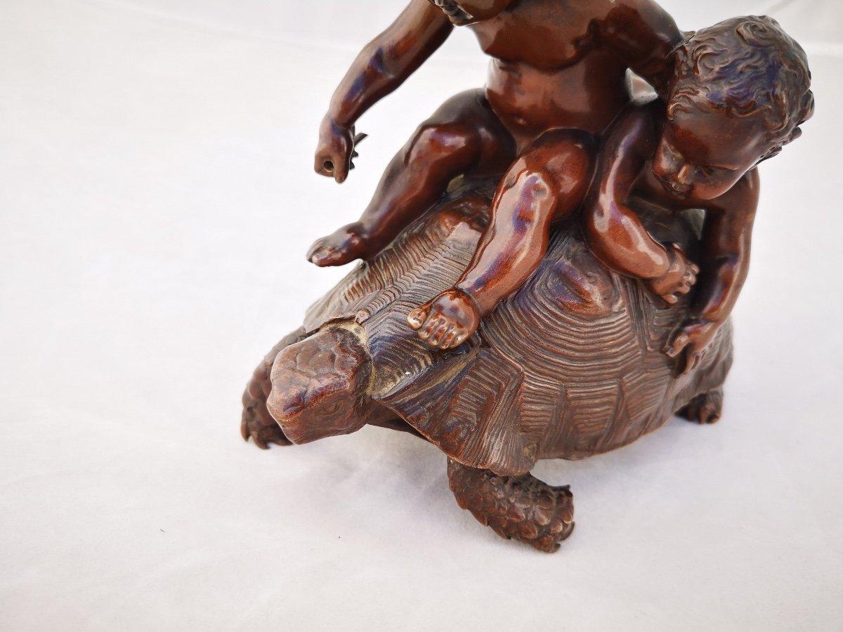 Barrias- Tortue En Bronze-photo-5