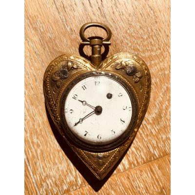 Pocket Watch In The Shape Of A Heart By Jean Godefroi Archinard (around 1780)