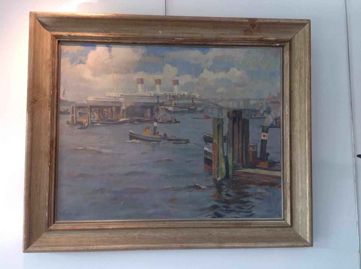 Huile sur toile H RODE ( 1906-1983)
