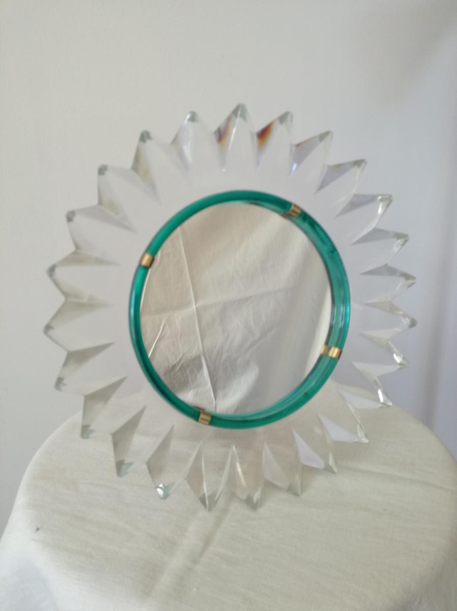Miroir Lalique En Forme De Marguerite Années 50/60