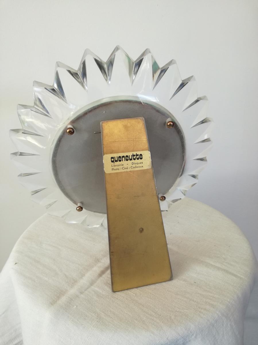 Miroir Lalique En Forme De Marguerite Années 50/60-photo-2