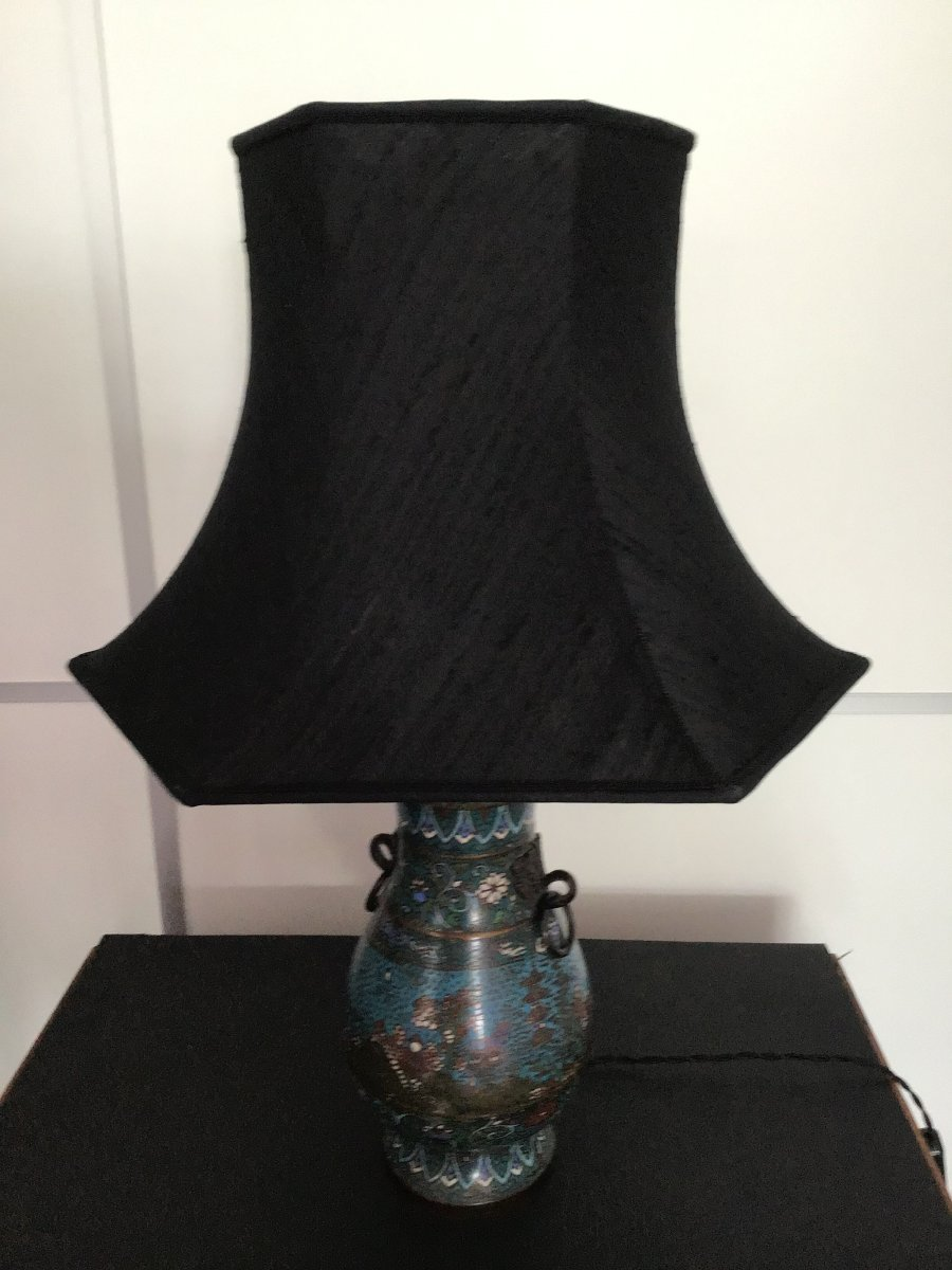 Chinese Bronze Cloisonne Lamp