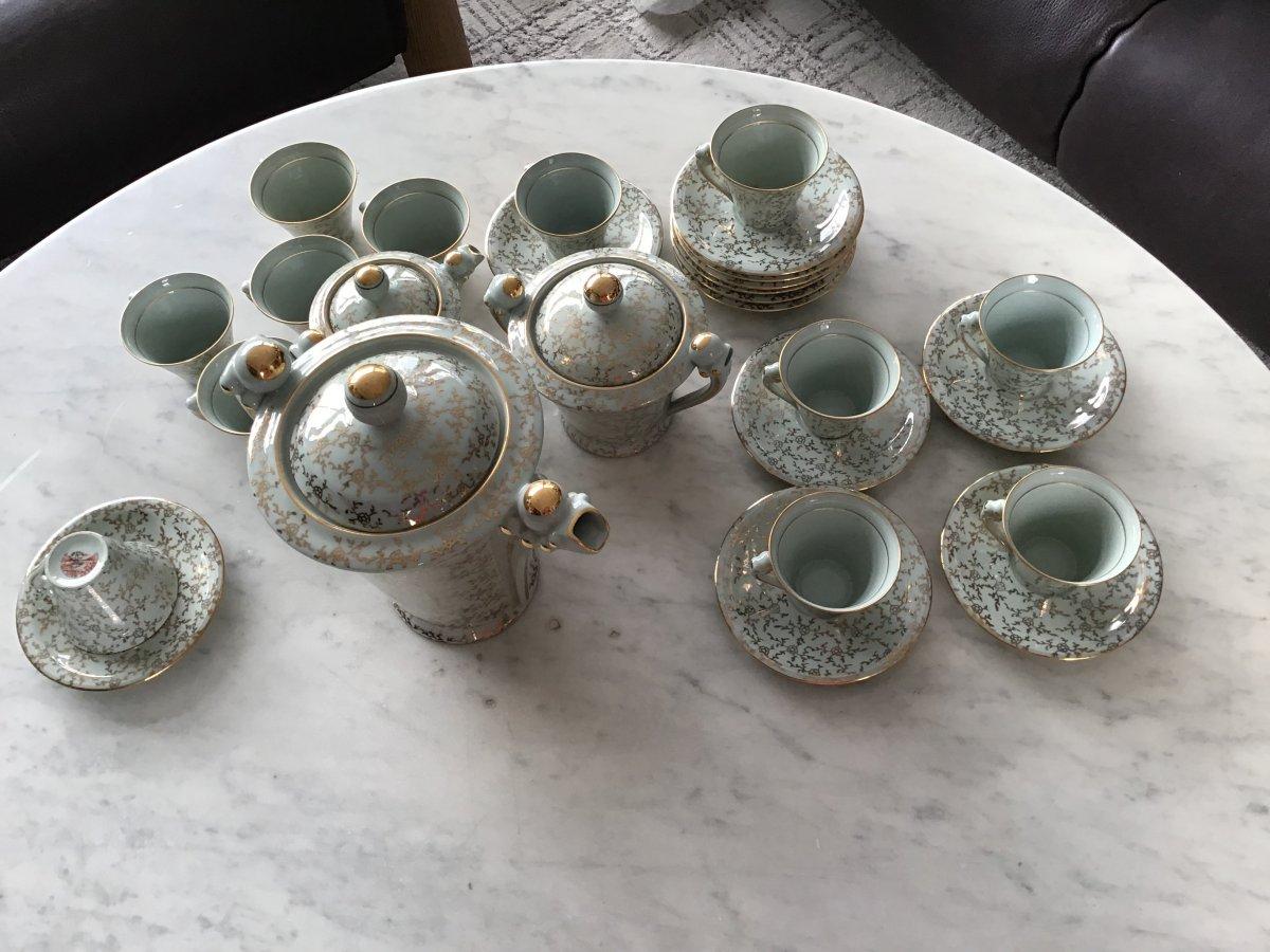 Service à Café Art Deco Robert Haviland Et Le Tanneur