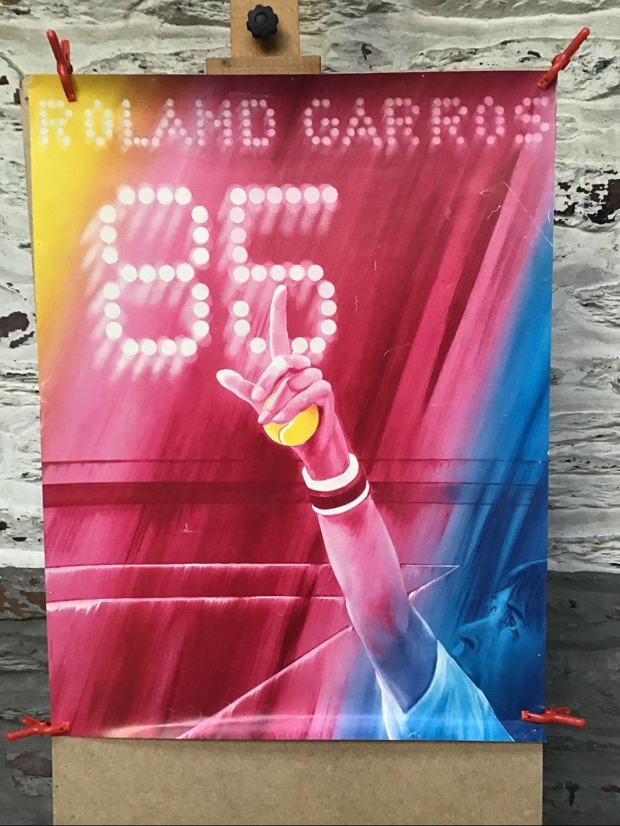 Lot De 7 Affiches Anciennes Rolland Garros-photo-1