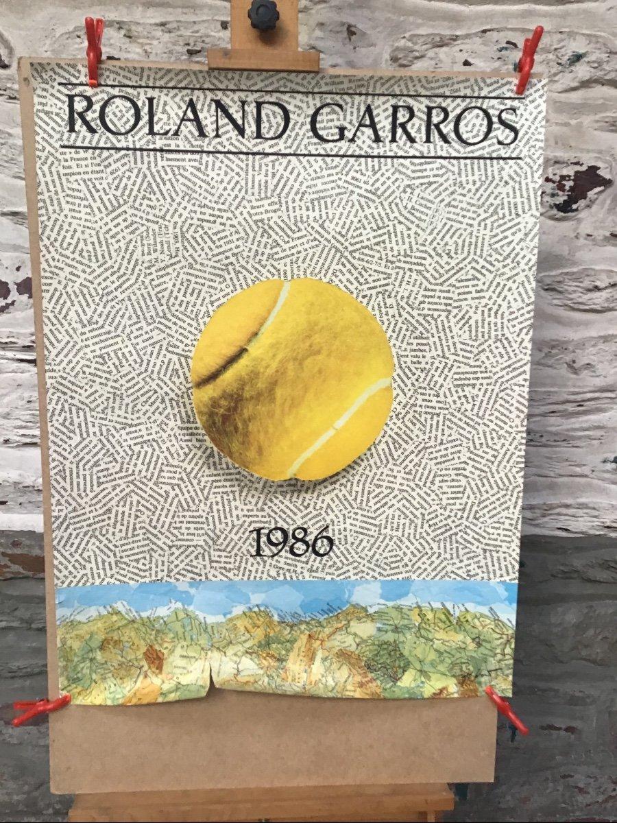 Lot De 7 Affiches Anciennes Rolland Garros-photo-4