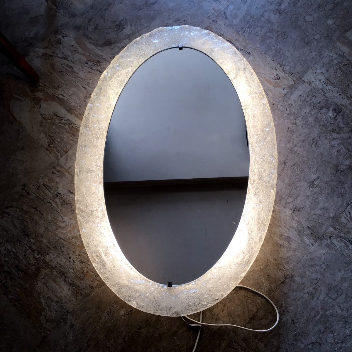 Miroir Rétro éclairé Erco 1970
