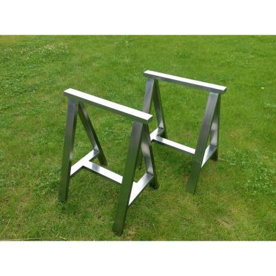 Pair Of Stainless Trestles Massif Poli