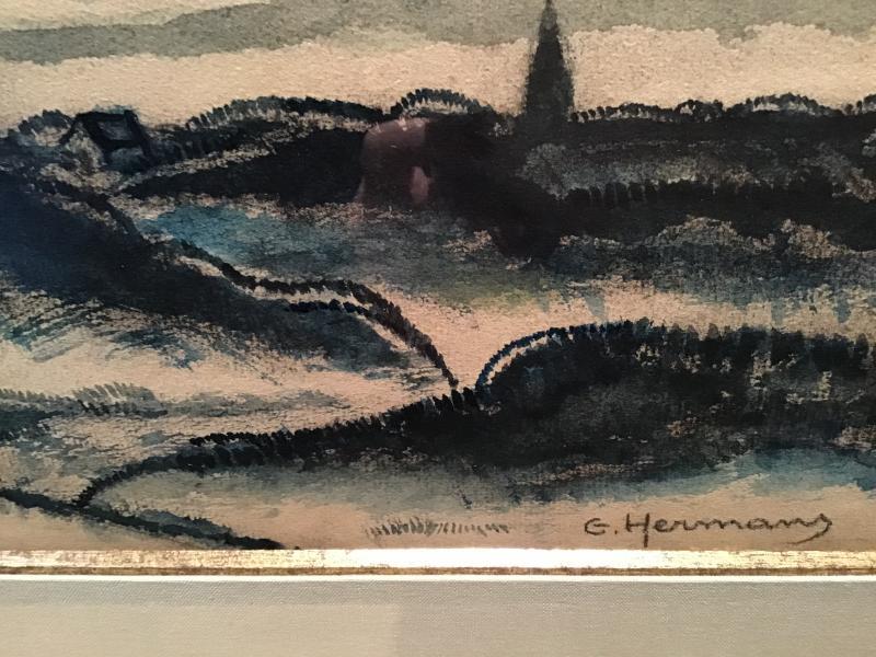 Tableau Paysage Signée G Hermans(1901-1978)-photo-3