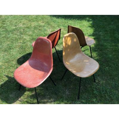 Set Of 4 Chairs Eames Hermann Miller Edition
