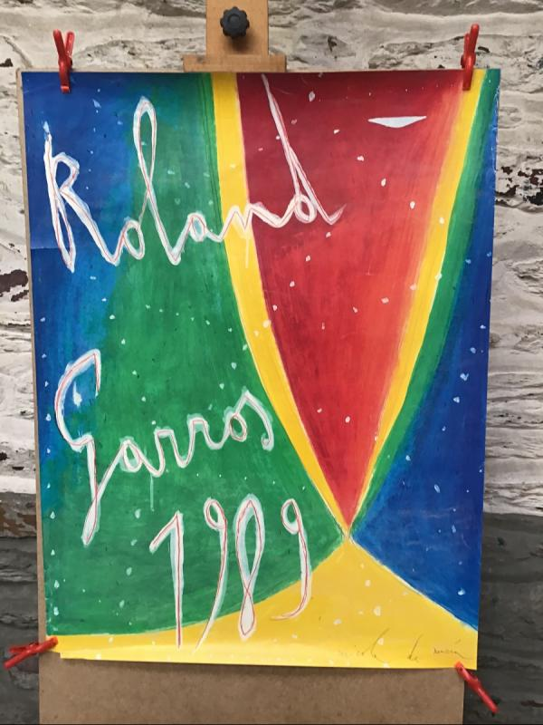 Lot De 7 Affiches Anciennes Rolland Garros-photo-2