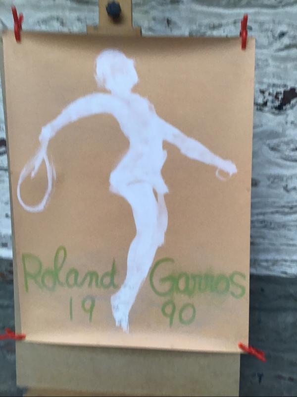 Lot De 7 Affiches Anciennes Rolland Garros-photo-3