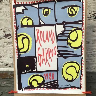 Lot De 7 Affiches Anciennes Rolland Garros