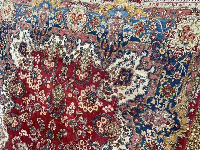 Grand Tapis Persan Kashan 4mx2m65-photo-2