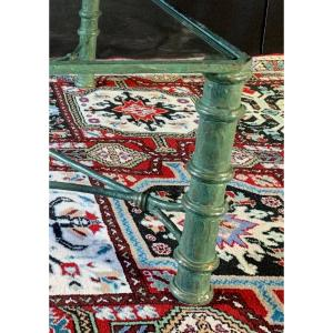 Large Bronze And Glass Coffee Table Circa 1960