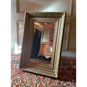 Miroir Rectangulaire D'époque XIX Ème.