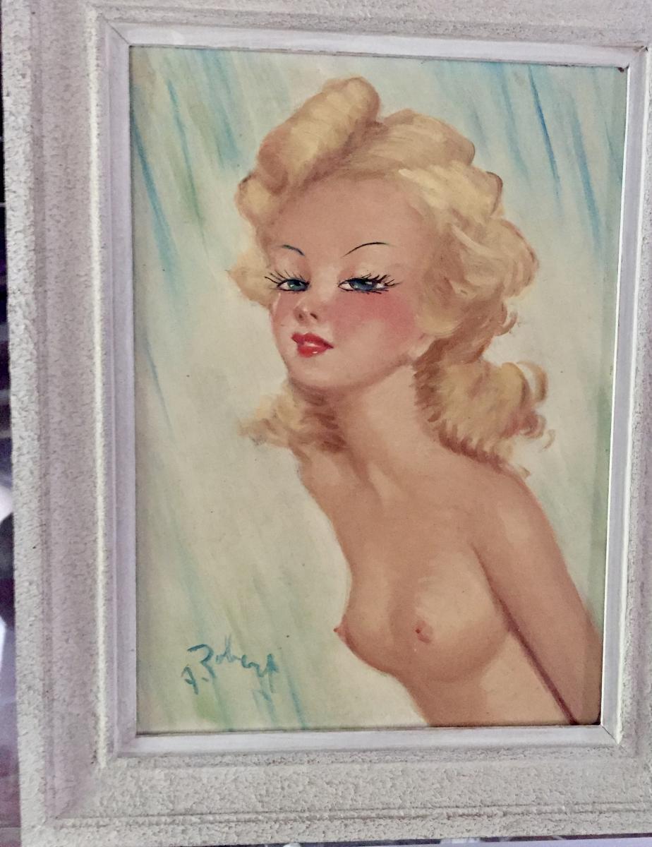 Oil On Isorel Female Nude