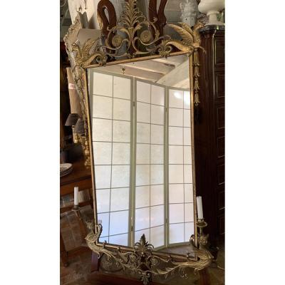 Miroir Bronze XIX°