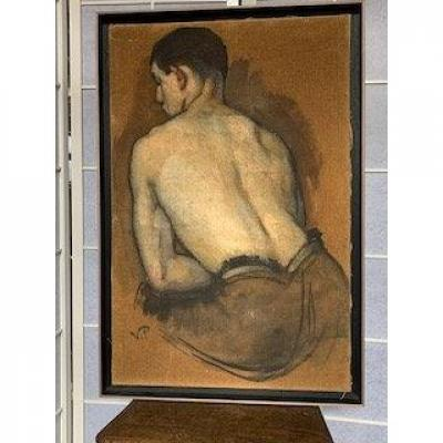 Man Painting From Back.