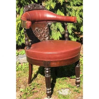Office Chair Napoleon III Rosewood 19th
