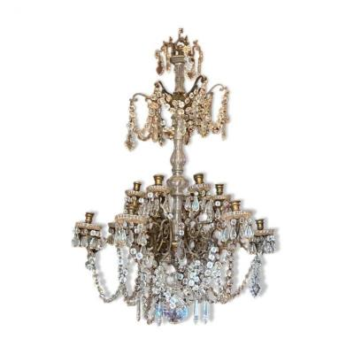19th Century Chandelier With 12 Lights