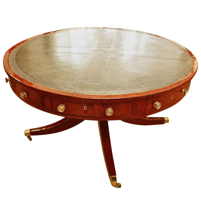 """Grand Table Anglais, Ca. 1820/regency """" Drum Table"""""""