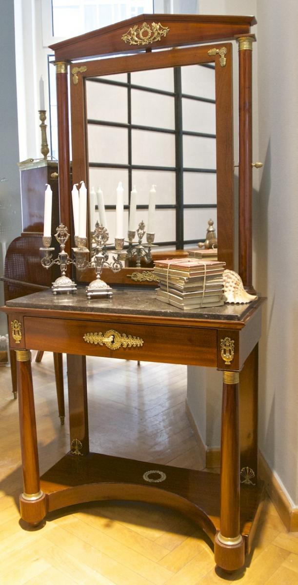 Empire Period Dresser In Mahogany, Early XIXth Century