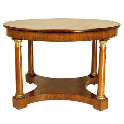Table Basse De Salon Autrichienne En Style Biedermeier, Ca. 1820