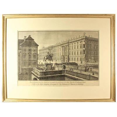 """J.G.Rosenberg: """"vue Du Chateau Du Coté Du Levant..."""" (de Berlin), 1781"""