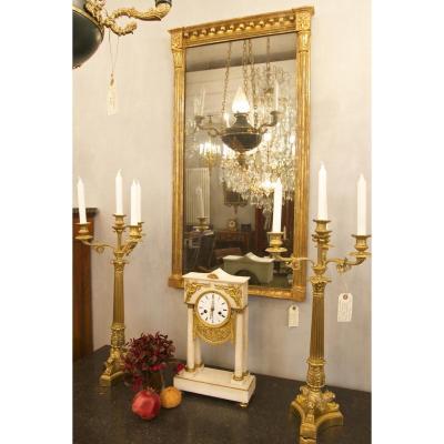 Miroir Regency Anglais Ou Américain En Bois Doré, Ca. 1810